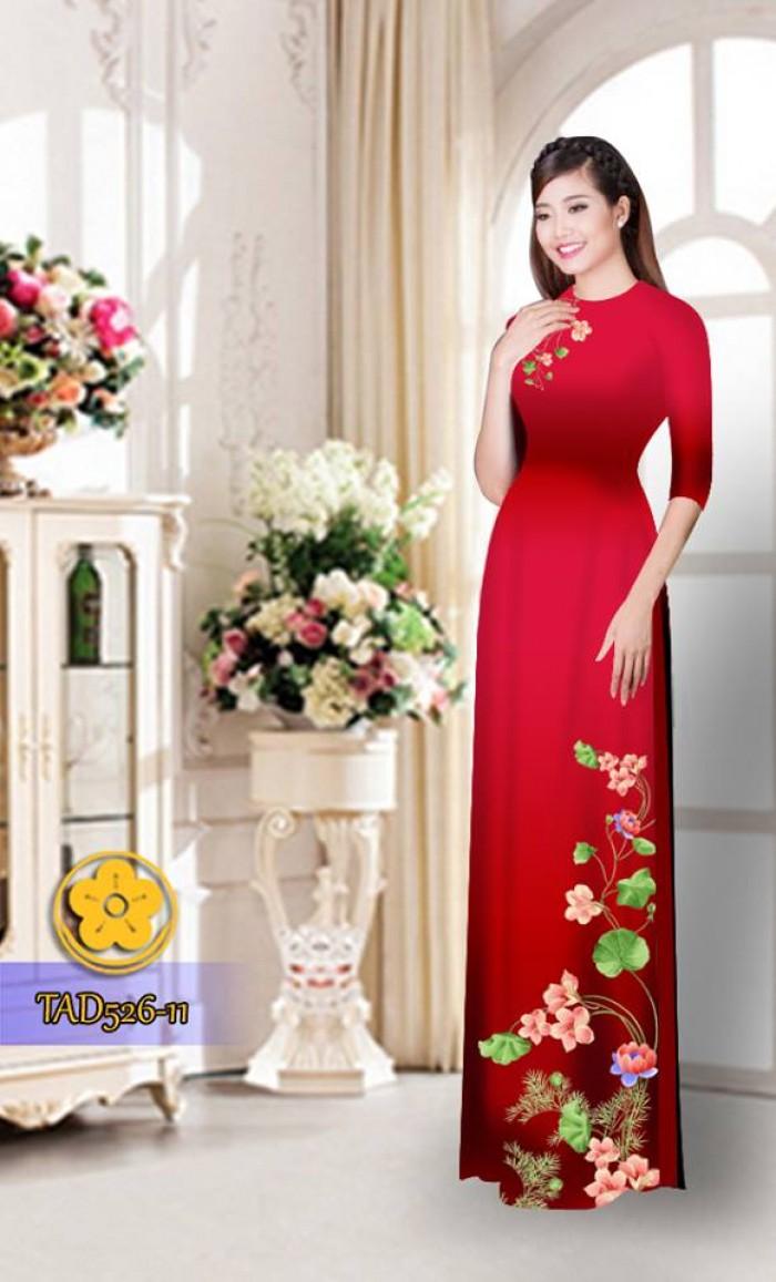 Vải áo dài hoa đẹp TAD52623