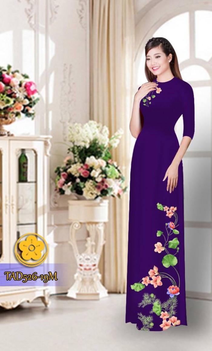 Vải áo dài hoa đẹp TAD52622