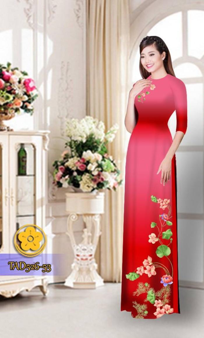 Vải áo dài hoa đẹp TAD52626