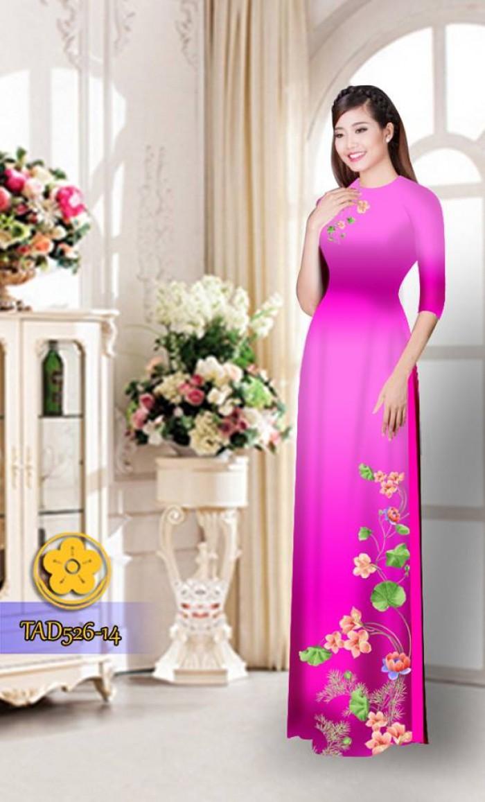 Vải áo dài hoa đẹp TAD52629