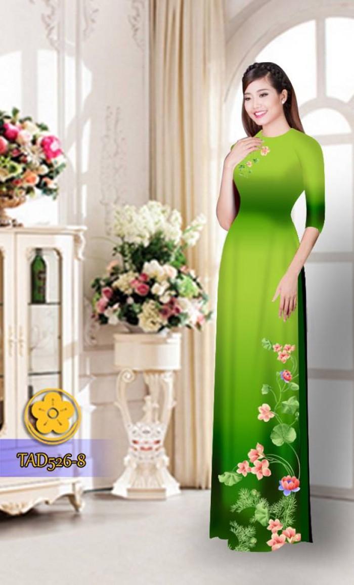 Vải áo dài hoa đẹp TAD52631