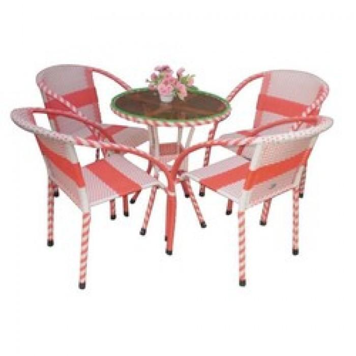 Chuyên sản xuất các loại bàn ghế nhựa giả mây cafe giá rẻ..4