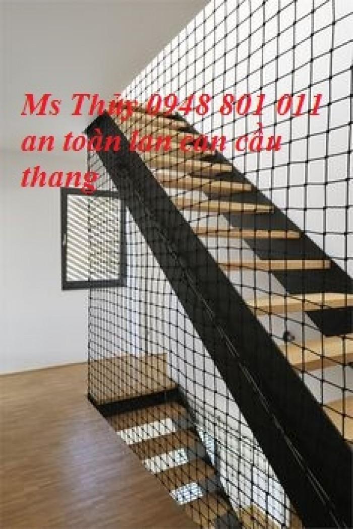 Lưới che chắn khe hở cầu thang,lưới chắn lan can cửa sổ hành lang cho bé không rơi ngã,lưới dù mềm1