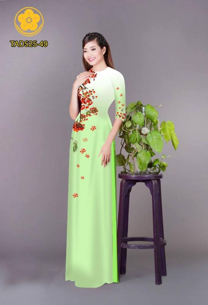 Vải áo dài hoa phượng TAD5252