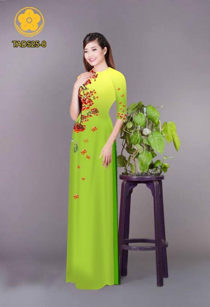 Vải áo dài hoa phượng TAD5251