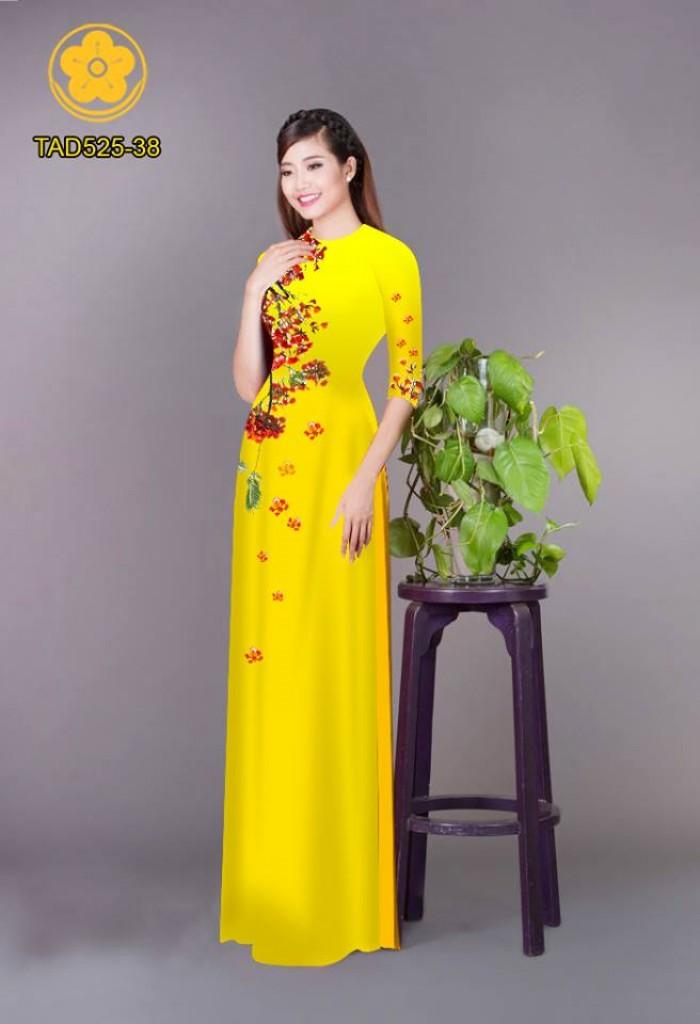 Vải áo dài hoa phượng TAD5253