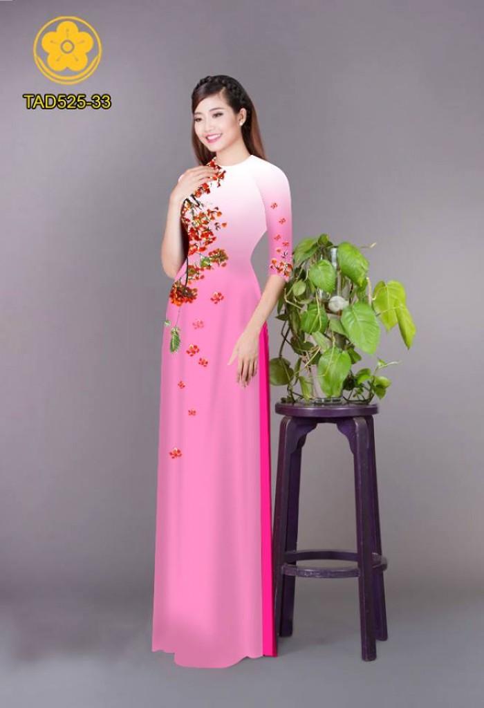 Vải áo dài hoa phượng TAD5254