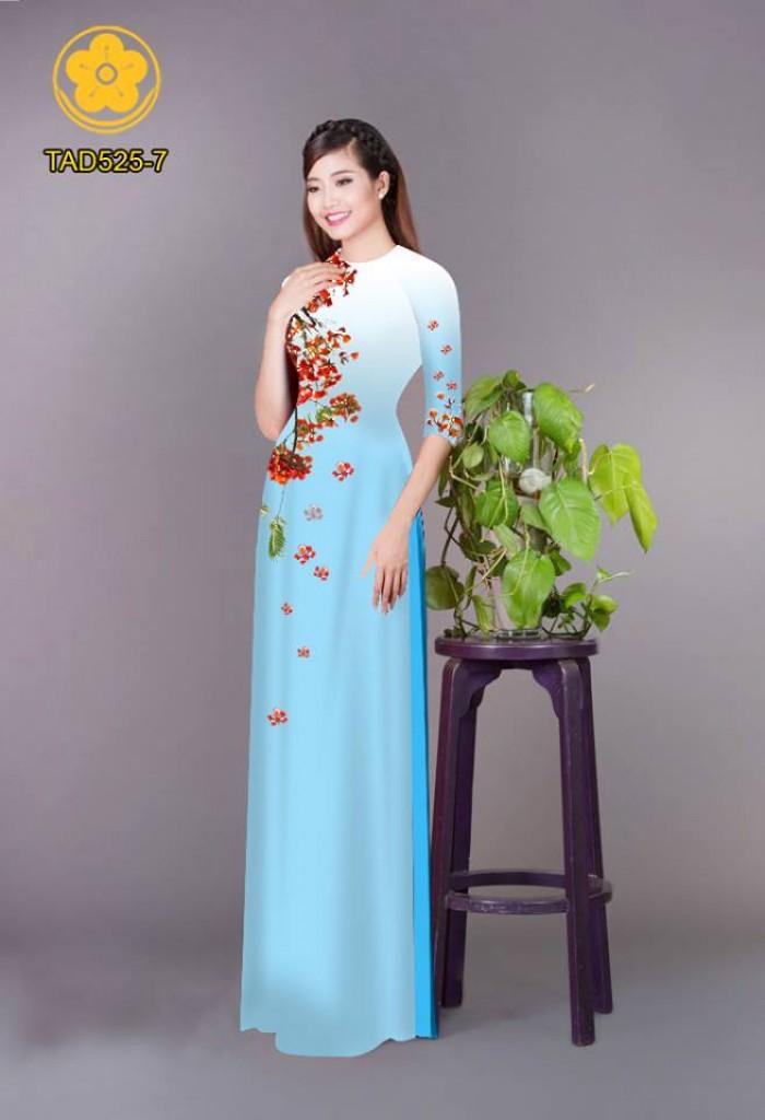 Vải áo dài hoa phượng TAD5255