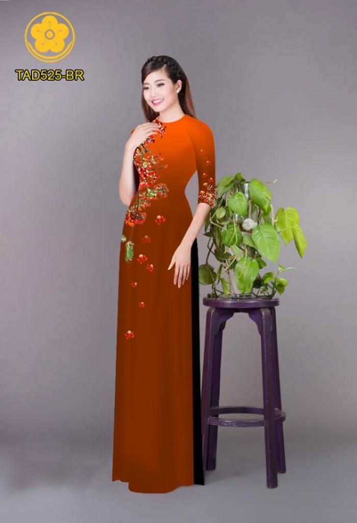 Vải áo dài hoa phượng TAD5256