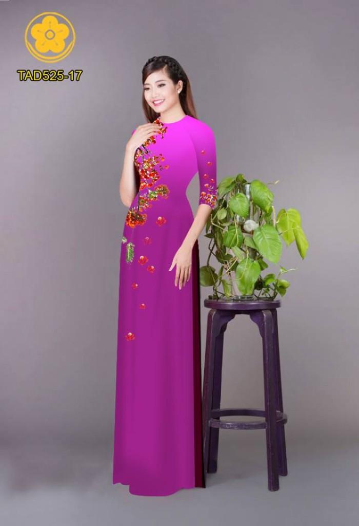 Vải áo dài hoa phượng TAD5258