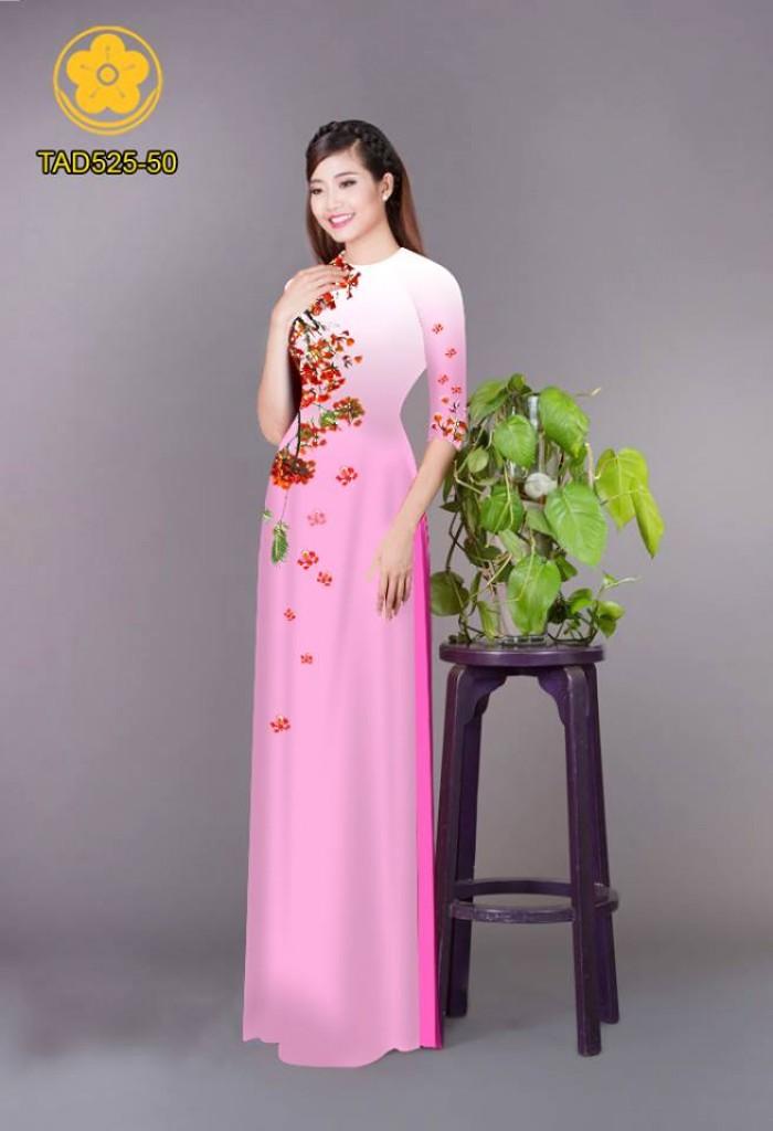 Vải áo dài hoa phượng TAD52510