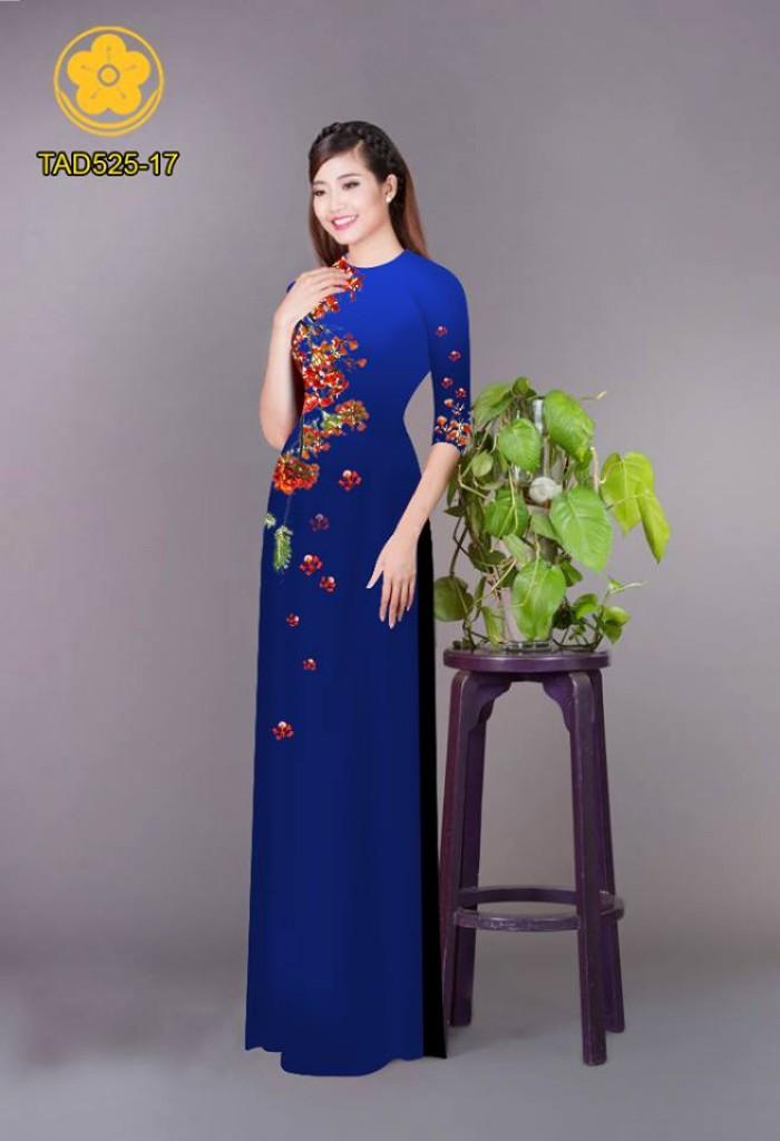 Vải áo dài hoa phượng TAD52515