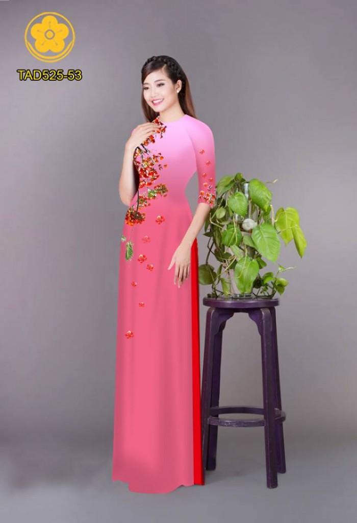 Vải áo dài hoa phượng TAD52520