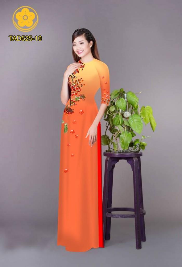Vải áo dài hoa phượng TAD52527
