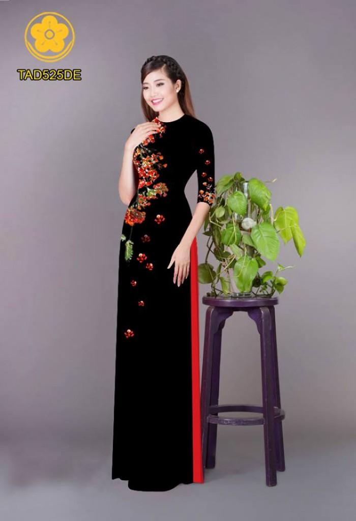 Vải áo dài hoa phượng TAD52529