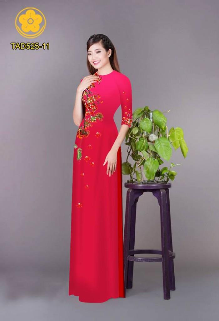 Vải áo dài hoa phượng TAD52530