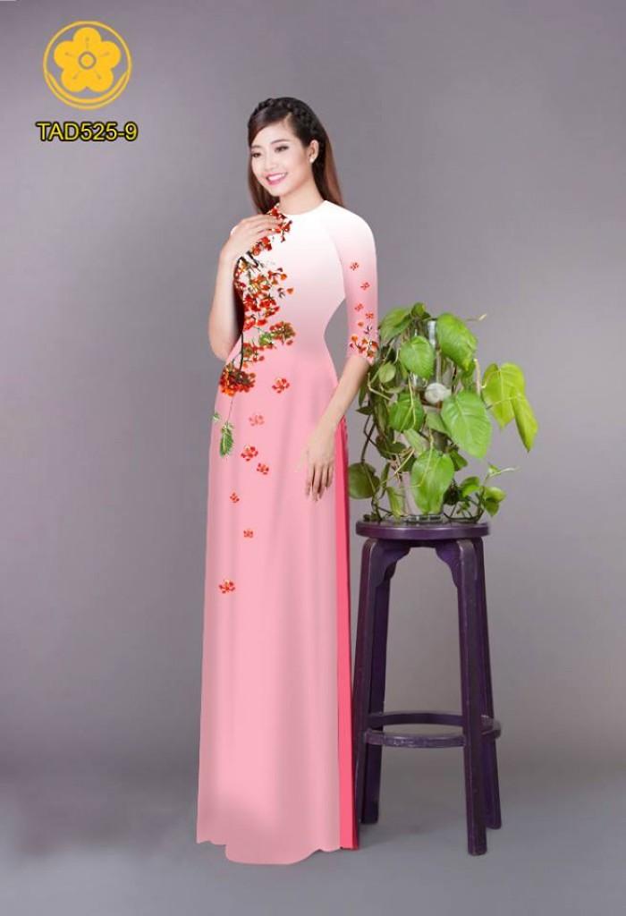 Vải áo dài hoa phượng TAD52531