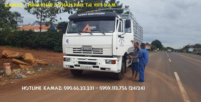 Xe tải thùng 65117 (6x4) 24t tại kamaz bình phước