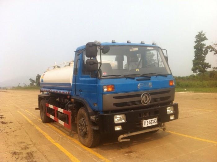 Xe tưới cây, xe phun nước rửa đường, xe rửa đường 9 khối Dongfeng