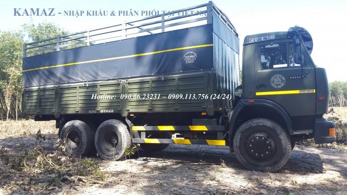 Xe tải thùng 53229 (6x4) 24 tấn / Tải thùng 3 chân Kamaz  tải trọng 14.7 tấn / 24 tấn
