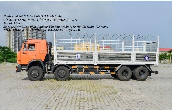 Xe tải Kamaz 4 giò | Kamaz 6540 thùng 9m nhập khẩu nguyên chiếc 2016