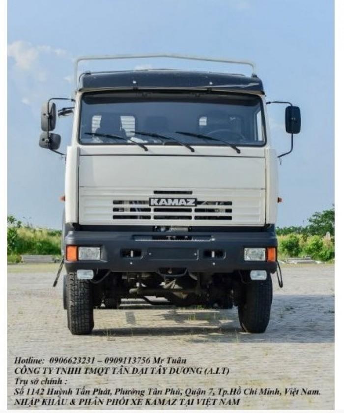 Xe tải thùng 53228 (6x6) 3 cầu chủ động | Kamaz 53328 thùng 6,7m 0