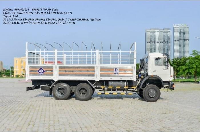 Xe tải thùng 53228 (6x6) 3 cầu chủ động | Kamaz 53328 thùng 6,7m 2