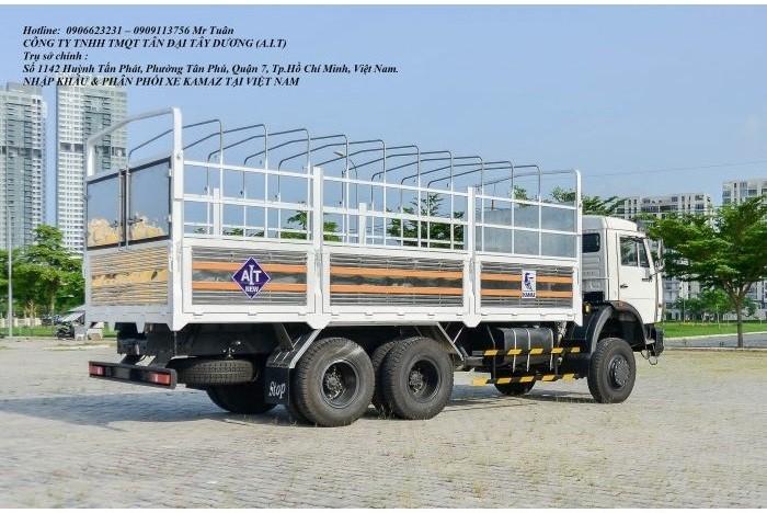 Xe tải thùng 53228 (6x6) 3 cầu chủ động | Kamaz 53328 thùng 6,7m 3