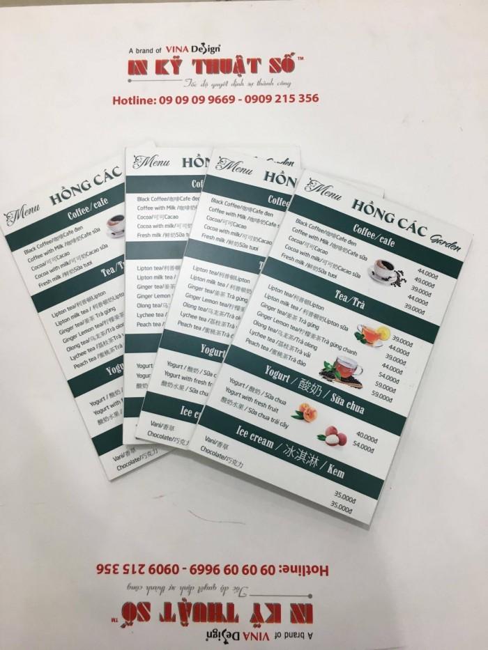 In menu cuốn từ PP cán format | Bạn cần đặt in menu tương tự, gọi ngay đến Hotline: 09 09 09 96 69 - 0906 819 365 để được tư vấn và báo giá in