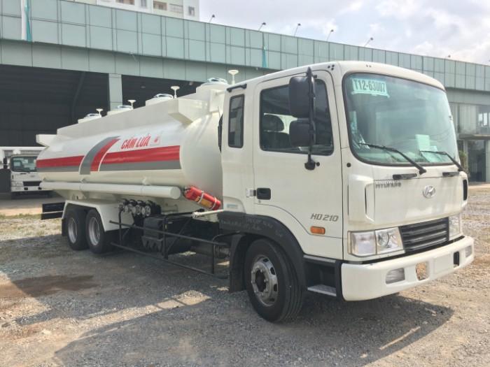Mua bán xe tec xăng dầu Cũ - Mới  HyunDai  HD 210 dung tích 16000 lít