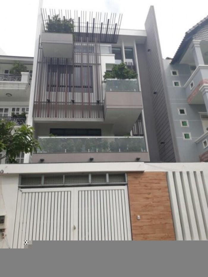 Cần bán biệt thự Tấn Trường 4 lầu đẹp sang trọng, Phú Thuận, Quận 7,DT 8x19m.Giá 12,8 tỷ