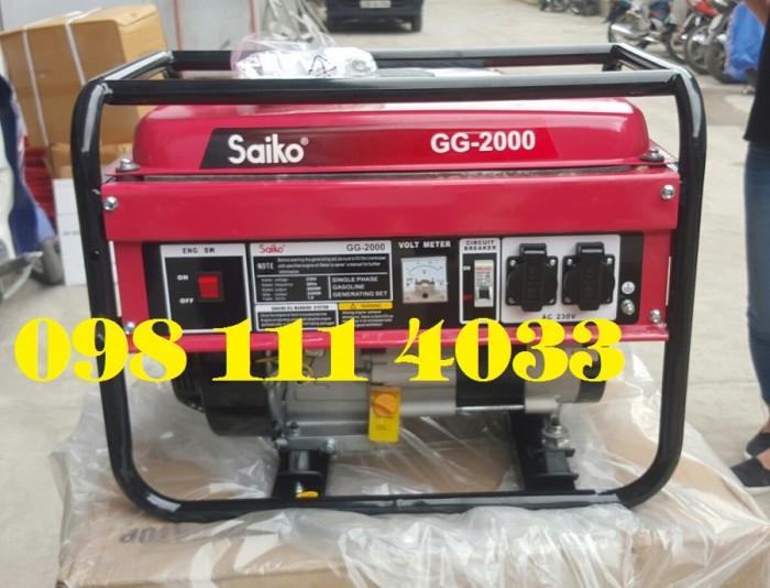 máy phát điện chạy xăng saiko4
