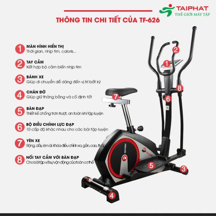 Xe Đạp Tập Thể Dục Tech Fitness Tf-626 Tại Quy Nhơn-Bình Định2