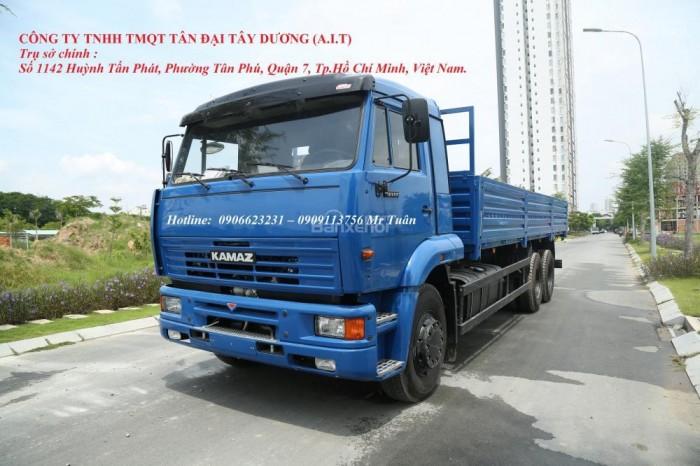 Xe tải thùng 65117 (6x4)   Kamaz thùng 7m8   Xe tải thùng Kamaz 65117 mới 2016 Nhập khẩu Nga 5