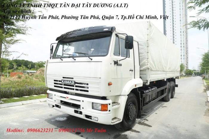 Xe tải thùng 65117 (6x4)   Kamaz thùng 7m8   Xe tải thùng Kamaz 65117 mới 2016 Nhập khẩu Nga 8