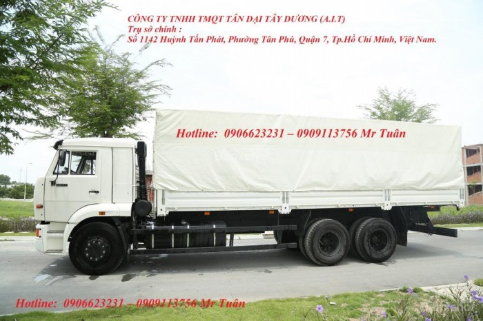 Xe tải thùng 65117 (6x4)   Kamaz thùng 7m8   Xe tải thùng Kamaz 65117 mới 2016 Nhập khẩu Nga 9