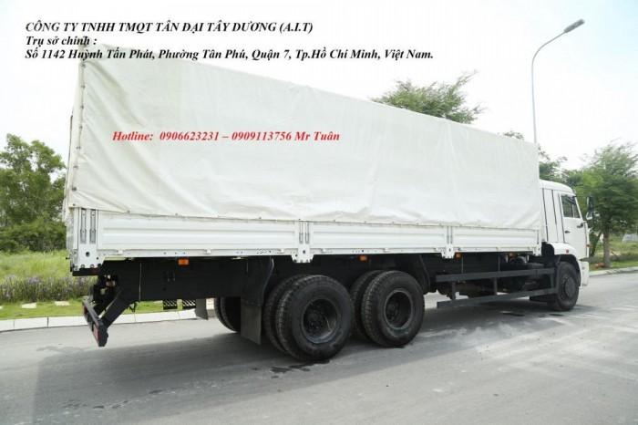 Xe tải thùng 65117 (6x4)   Kamaz thùng 7m8   Xe tải thùng Kamaz 65117 mới 2016 Nhập khẩu Nga 10