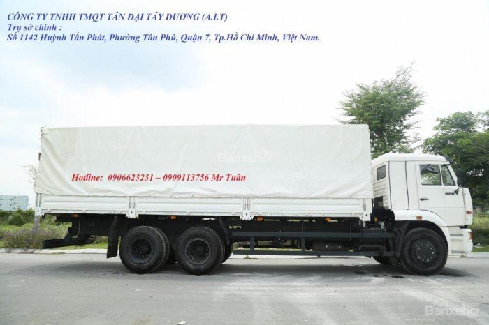 Xe tải thùng 65117 (6x4)   Kamaz thùng 7m8   Xe tải thùng Kamaz 65117 mới 2016 Nhập khẩu Nga 11