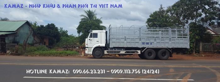 Xe tải thùng 65117 (6x4)   Kamaz thùng 7m8   Xe tải thùng Kamaz 65117 mới 2016 Nhập khẩu Nga 14