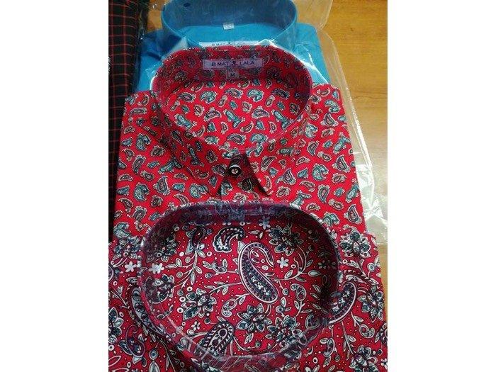 Áo sơmi nam hoạ tiết vải sợi tre cho người trung tuổi0