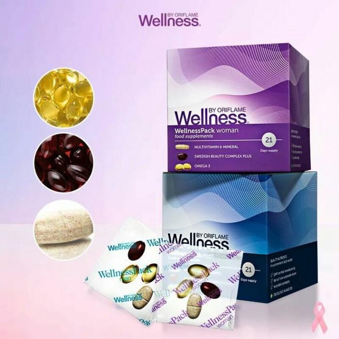 Thực phẩm bổ sung dinh dưỡng, chống lão hóa cho phụ nữ WellnessPack Oriflame 227911
