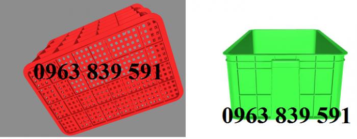 Cung cấp rổ nhựa có nắp đậy-bánh xe giá sỉ6