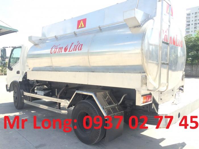 Xe Tải Hino chở xăng dầu 7 khối , xe HINO chở xăng dầu 6m3 , HINO dutro 342L chở xăng dầu