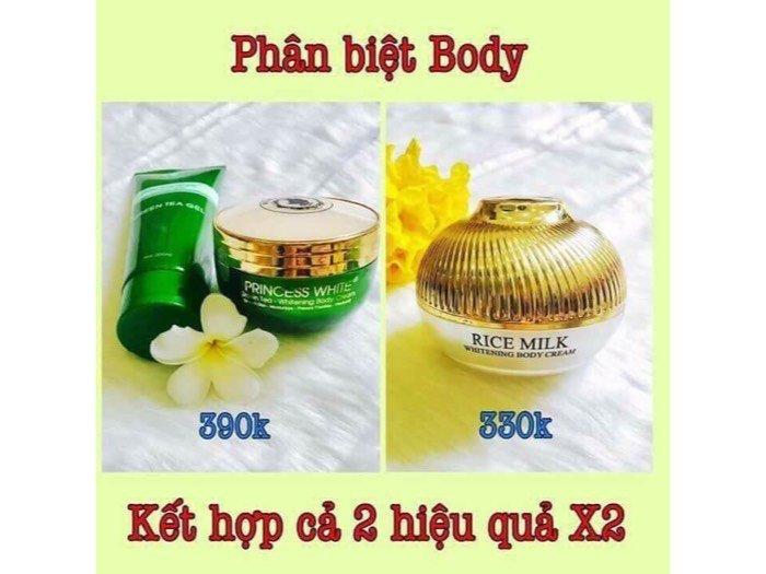 Body trà xanh + sữa gạo