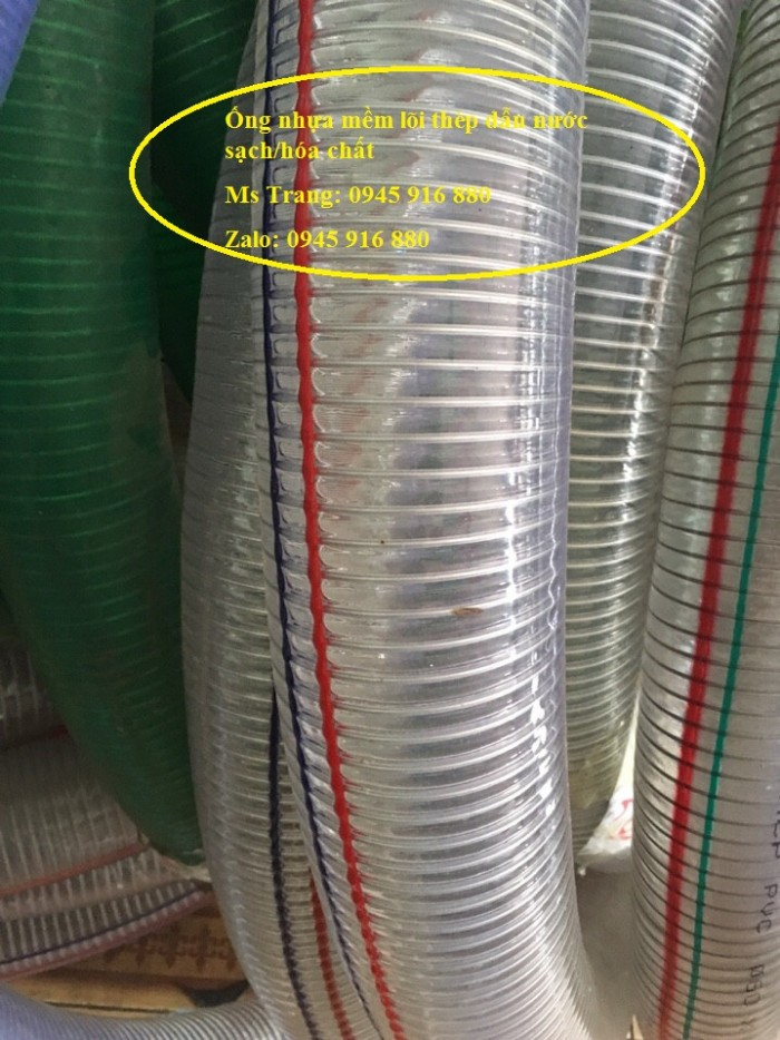 Ống nhựa mềm lõi thép Phi 13 Phi 16 Phi 19 giá tốt nhất Mới 100%, giá33