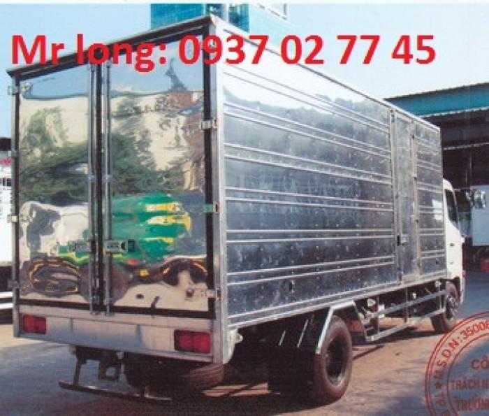 Xe tải HINO 6 tấn thùng kín, xe tải HINO FC9JJSW, xe HINO 6 tấn 2 thùng kín, giá xe HINO 6t2, đại lý xe tải HINO , Hino FC9JJTA 6 tấn thùng kín