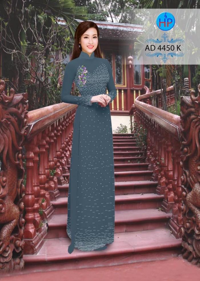 Vải áo dài bi xinh AD44501