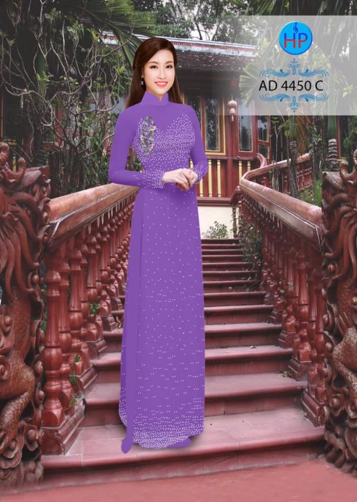 Vải áo dài bi xinh AD44500
