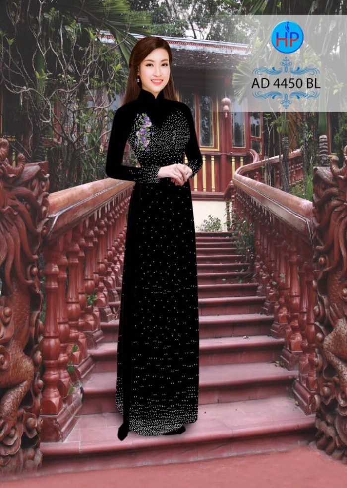 Vải áo dài bi xinh AD44502
