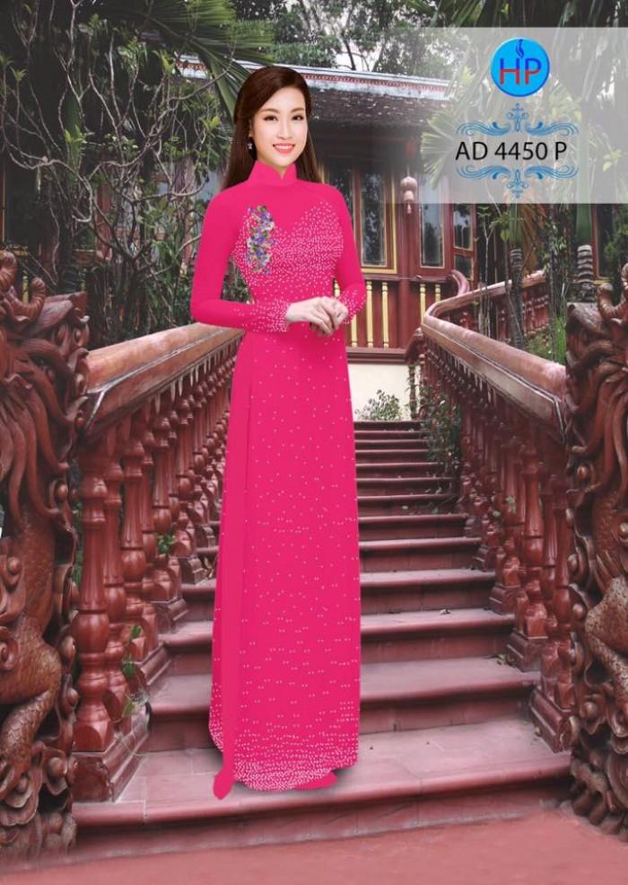 Vải áo dài bi xinh AD44503